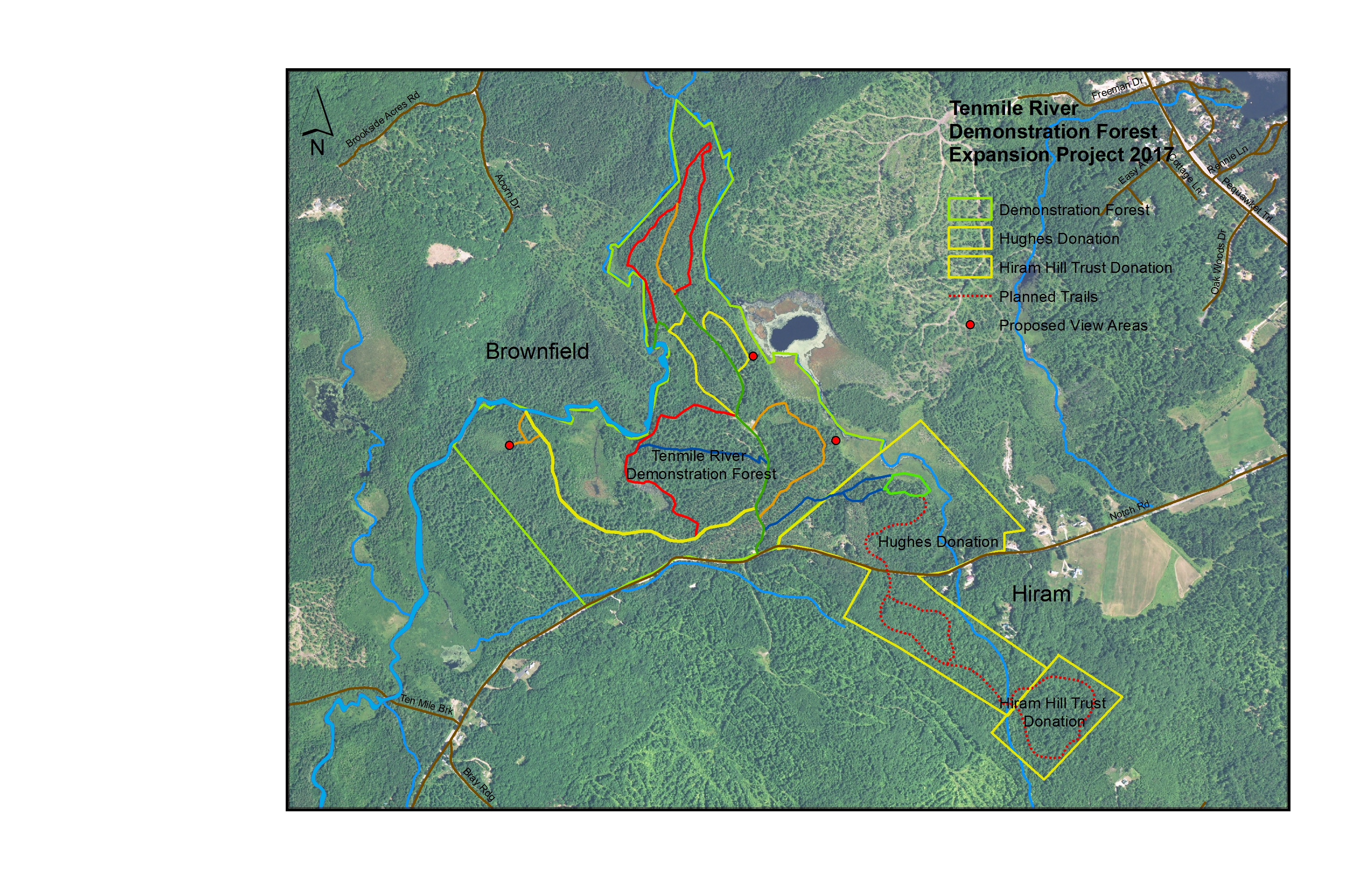 Hiram Maine Map.Tenmile River Demonstration Forest Oxford County Soil Water